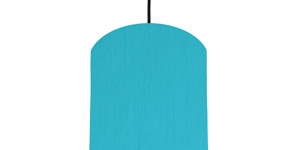 Turquoise & Forest Green Lampshade - 20cm Wide