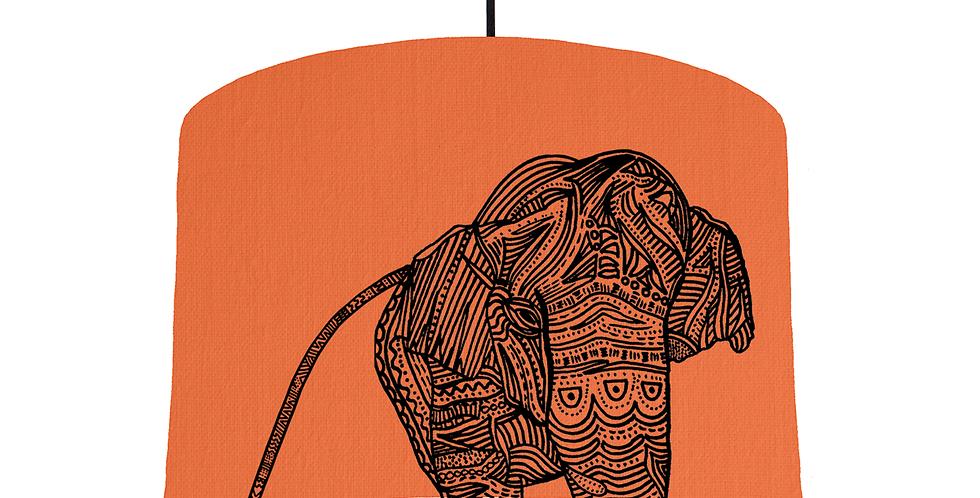 Elephant - Orange Fabric