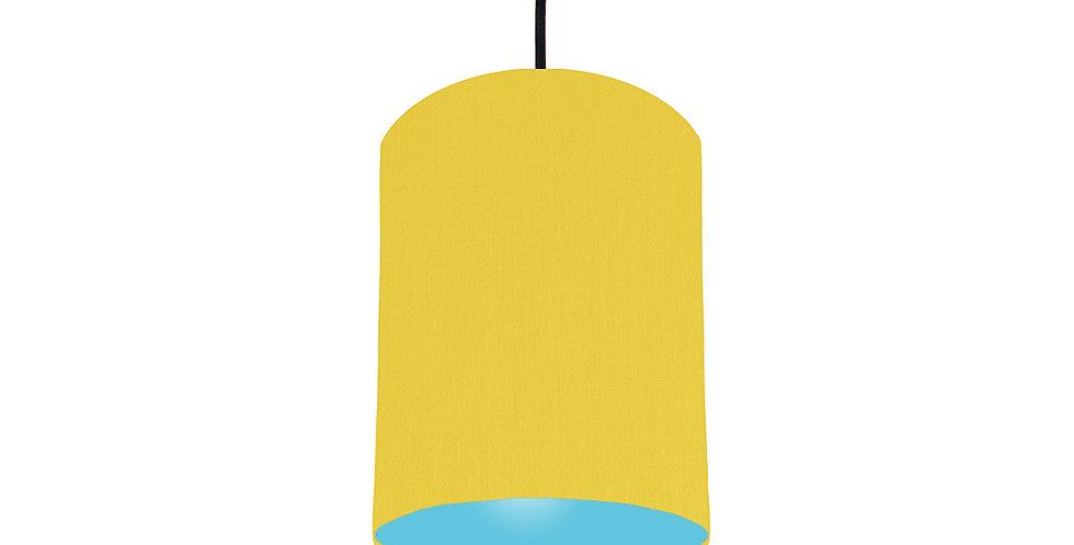 Lemon & Light Blue Lampshade - 15cm Wide