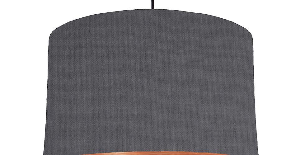 Dark Grey & Brushed Copper Lampshade - 40cm Wide
