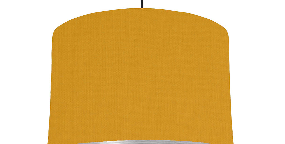 Mustard & Brushed Silver Lampshade - 30cm Wide
