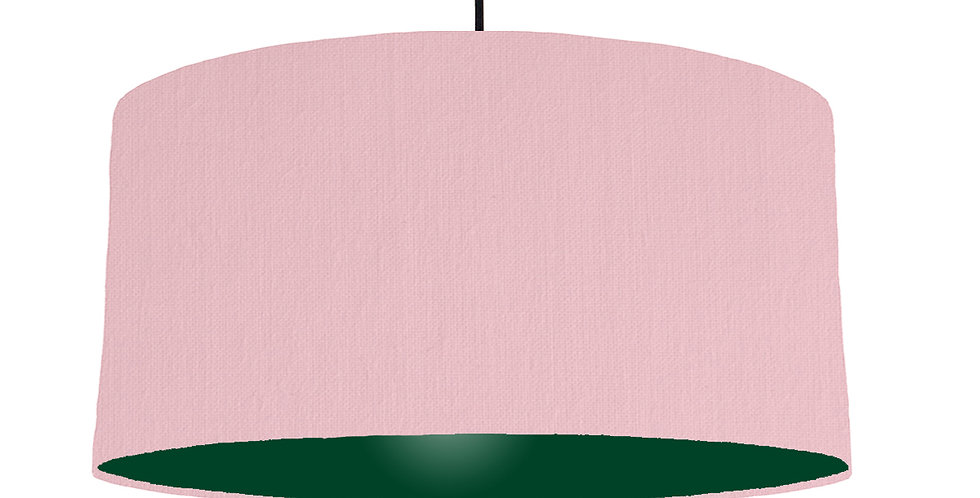 Pink & Forest Green Lampshade - 60cm Wide