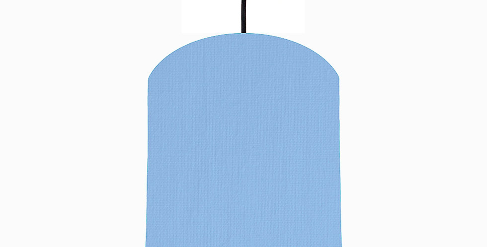 Sky Blue & Brushed Gold Lampshade - 20cm Wide