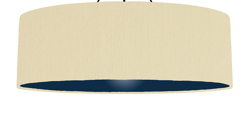 Natural & Navy Lampshade - 100cm Wide