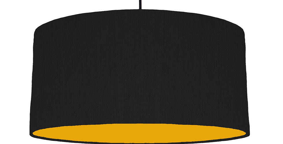 Black & Mustard Lampshade - 60cm Wide