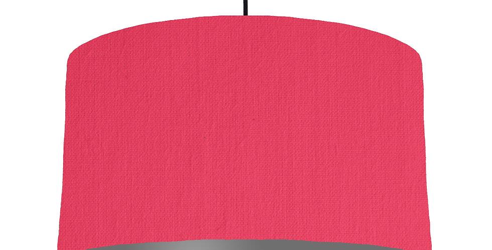 Cerise & Dark Grey Lampshade - 50cm Wide