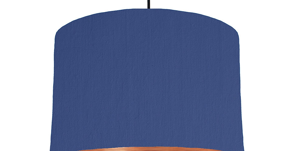 Royal Blue & Brushed Copper Lampshade - 30cm Wide