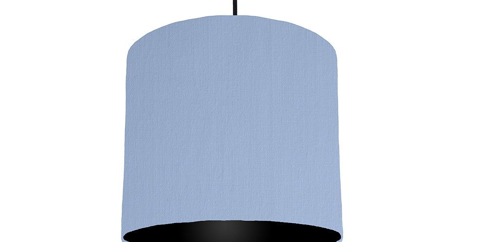 Sky Blue & Black Lampshade - 25cm Wide