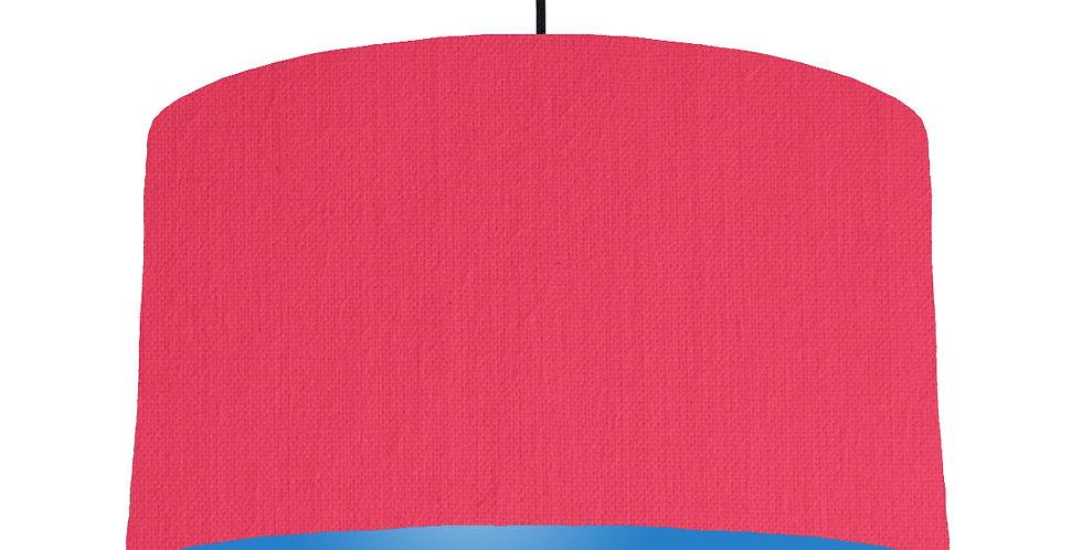 Cerise & Bright Blue Lampshade - 50cm Wide