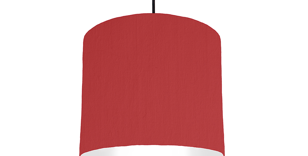 Red & White Lampshade - 25cm Wide
