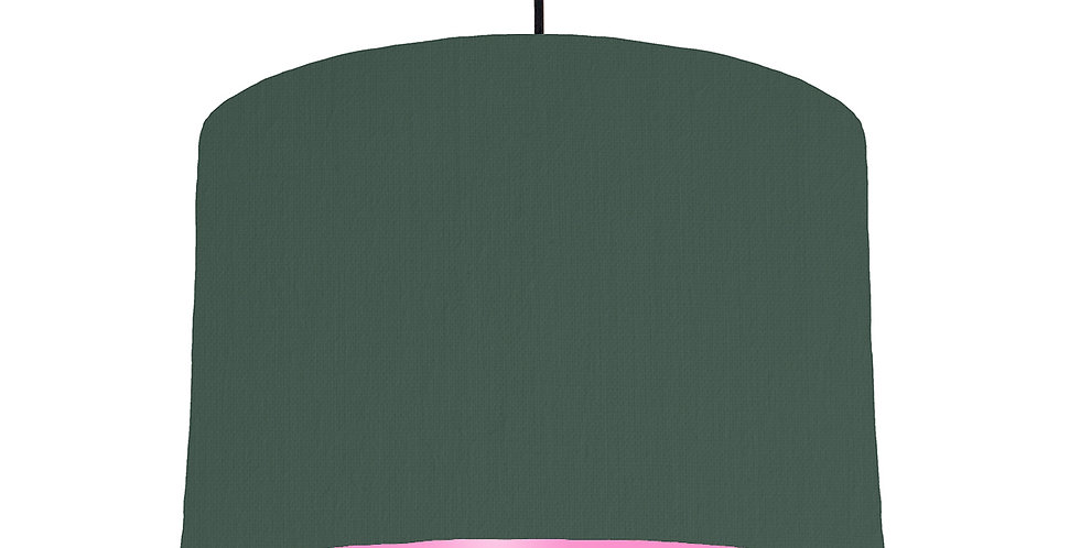 Bottle Green & Pink Lampshade - 30cm Wide