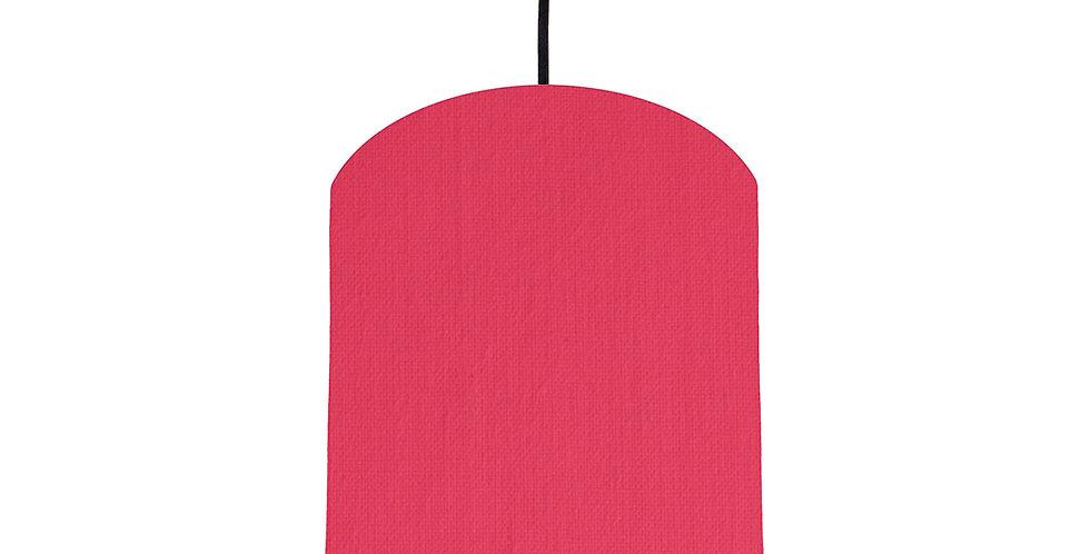 Cerise & Ivory Lampshade - 20cm Wide