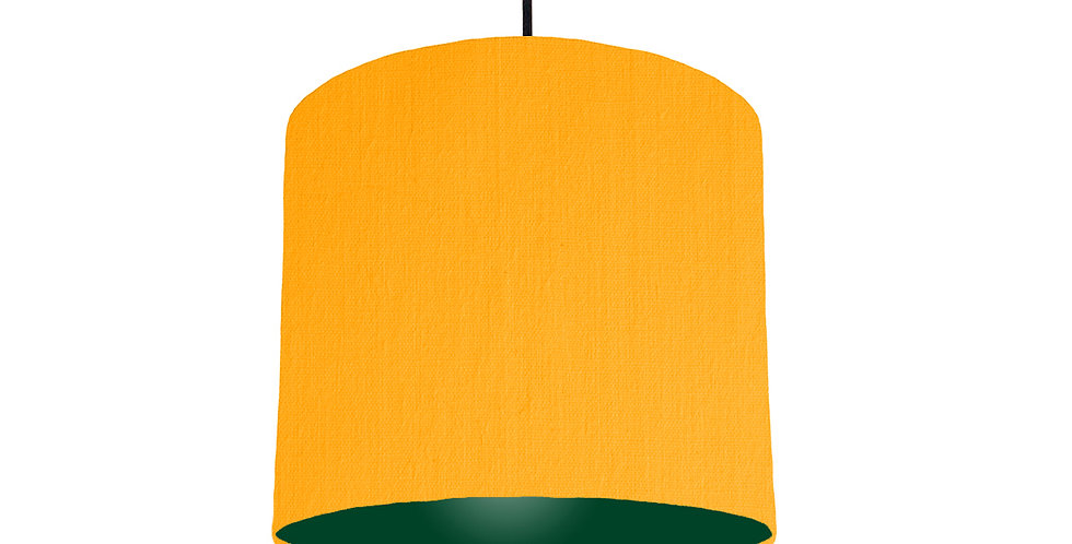 Sunshine & Forest Green Lampshade - 25cm Wide