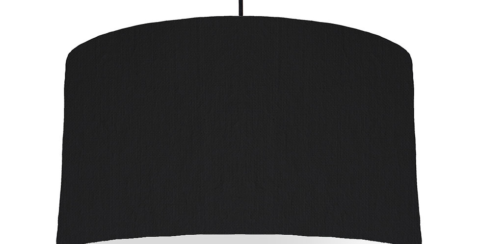 Black & Light Grey Lampshade - 50cm Wide