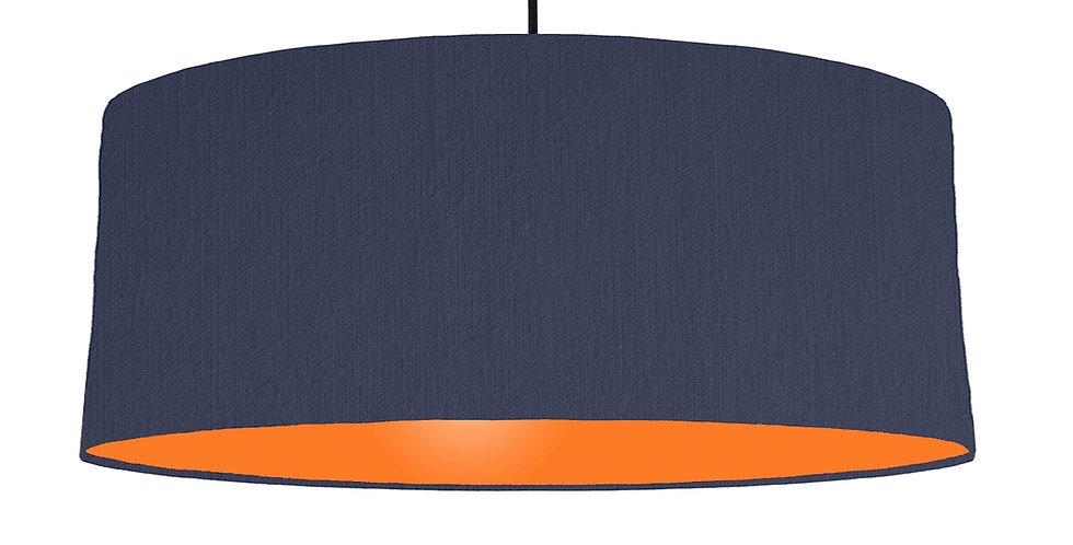 Navy Blue & Orange Lampshade - 70cm Wide