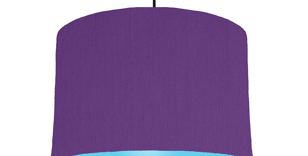 Violet & Light Blue Lampshade - 30cm Wide