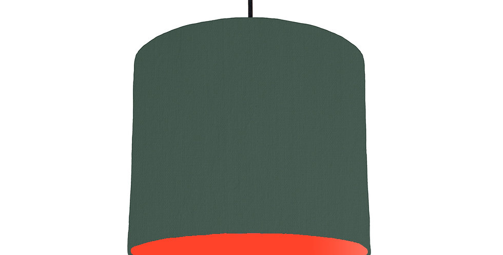 Bottle Green & Poppy Red Lampshade - 25cm Wide