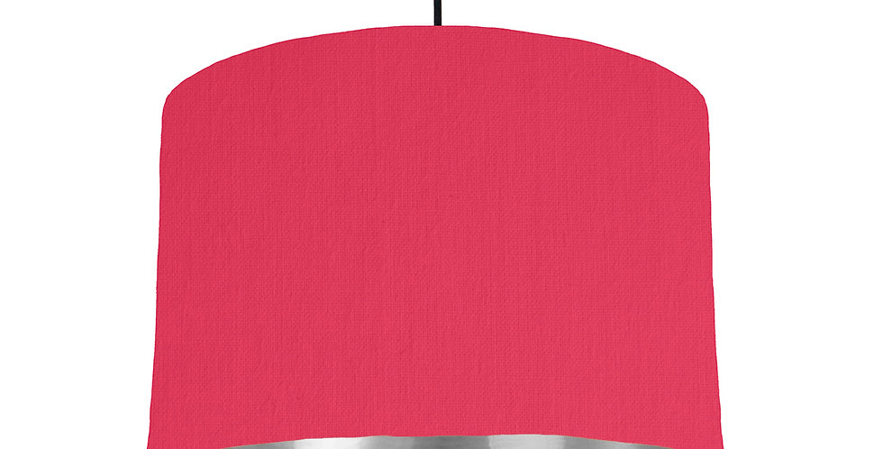 Cerise & Silver Mirrored Lampshade - 30cm Wide