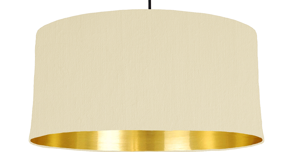 Natural & Gold Mirrored Lampshade - 60cm Wide