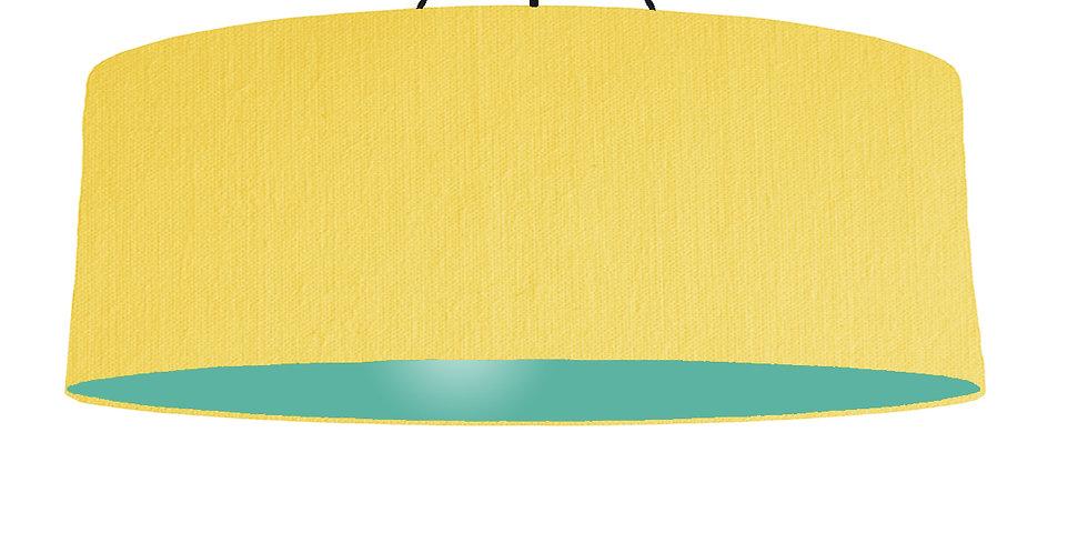 Lemon & Turquoise Lampshade - 100cm Wide