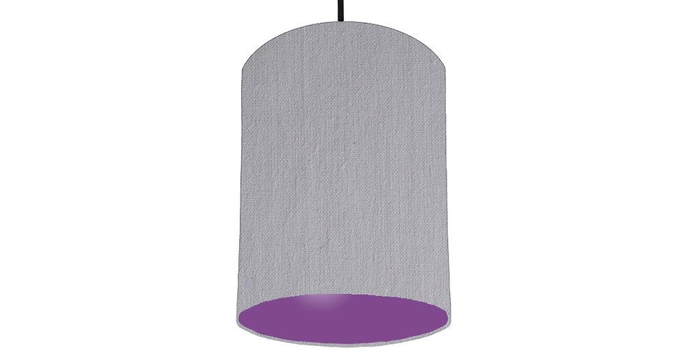 Light Grey & Purple Lampshade - 15cm Wide