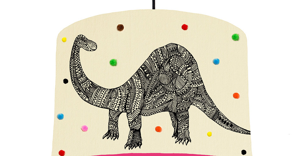 Dinosaur Pom Pom Lampshade - Choose From 19 Lining Colours