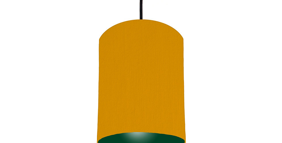 Mustard & Forest Green Lampshade - 15cm Wide