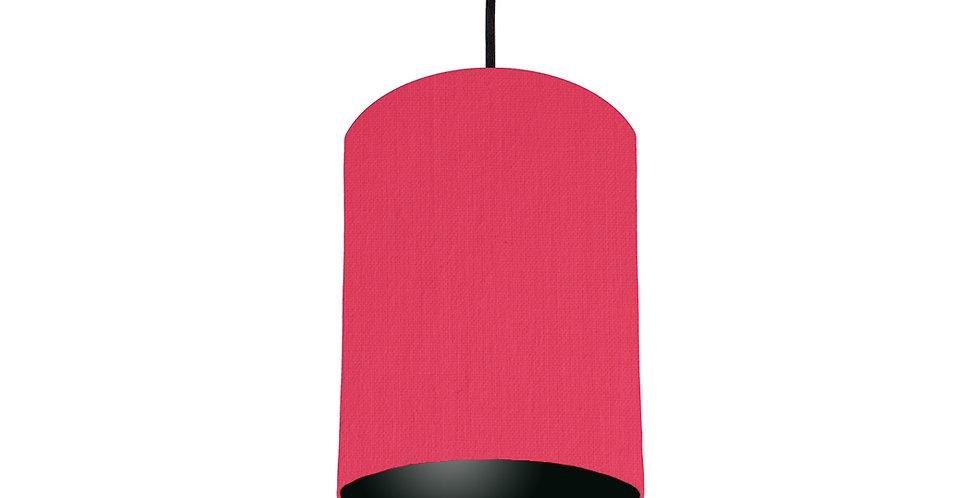 Cerise & Black Lampshade - 15cm Wide
