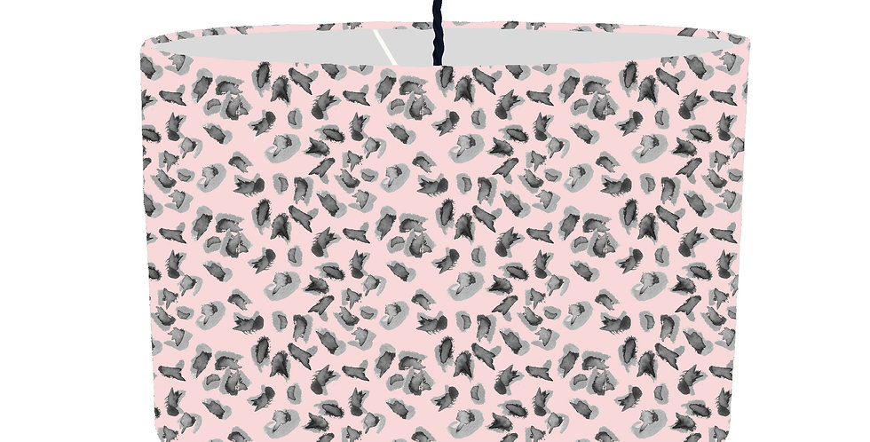 Soft Pink Leopard Print Lampshade - Colour Lining