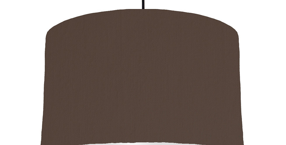 Brown & Light Grey Lampshade - 40cm Wide