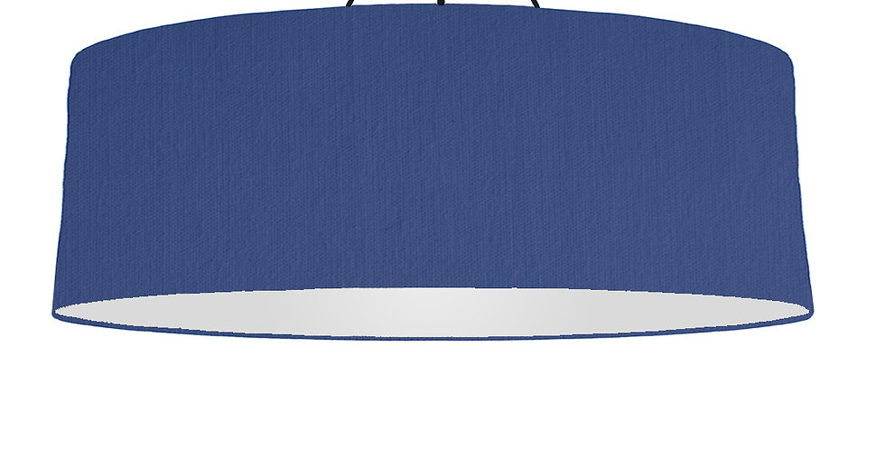 Royal Blue & Silver Matt Lampshade - 100cm Wide