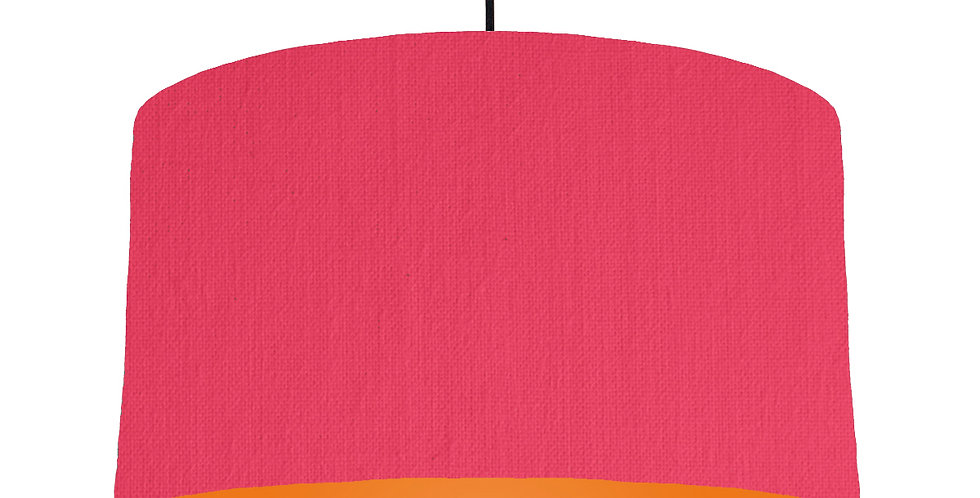 Cerise & Orange Lampshade - 50cm Wide
