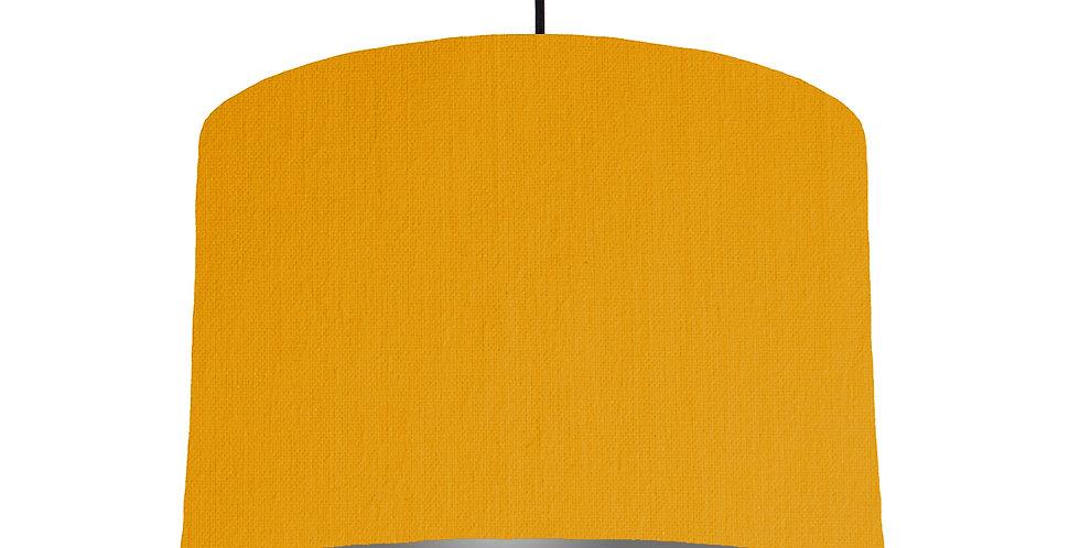 Mustard & Dark Grey Lampshade - 30cm Wide