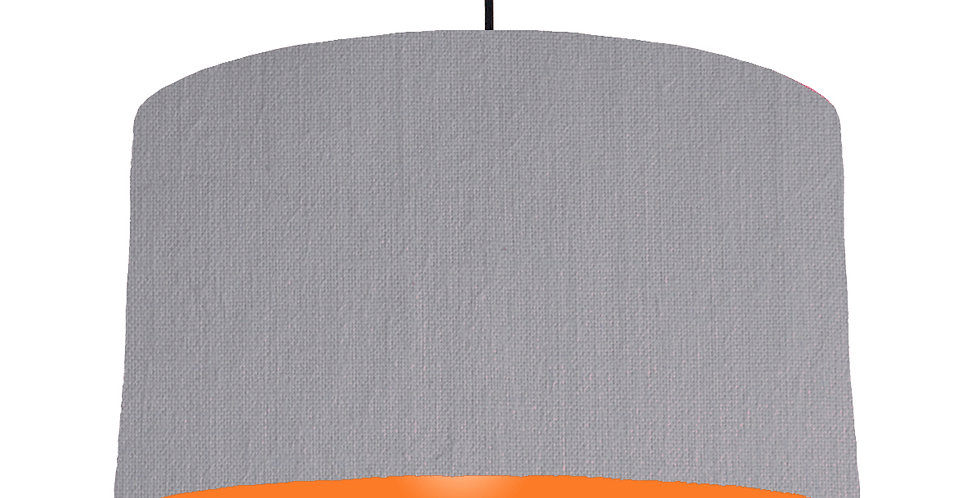 Light Grey & Orange Lampshade - 50cm Wide
