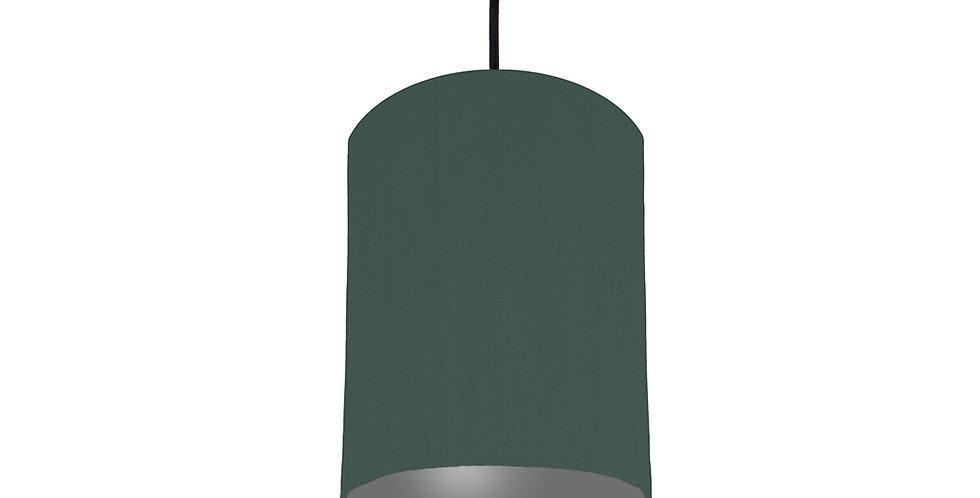Bottle Green & Dark Grey Lampshade - 15cm Wide