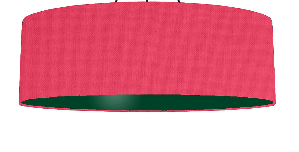 Cerise & Forest Green Lampshade - 100cm Wide