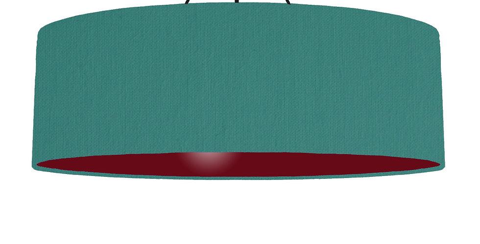 Jade & Burgundy Lampshade - 100cm Wide