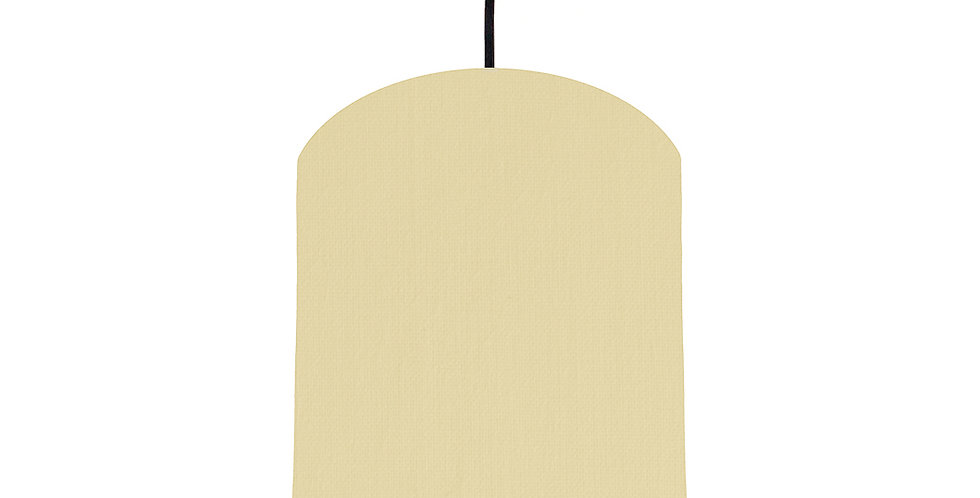Natural & Lime Green Lampshade - 20cm Wide