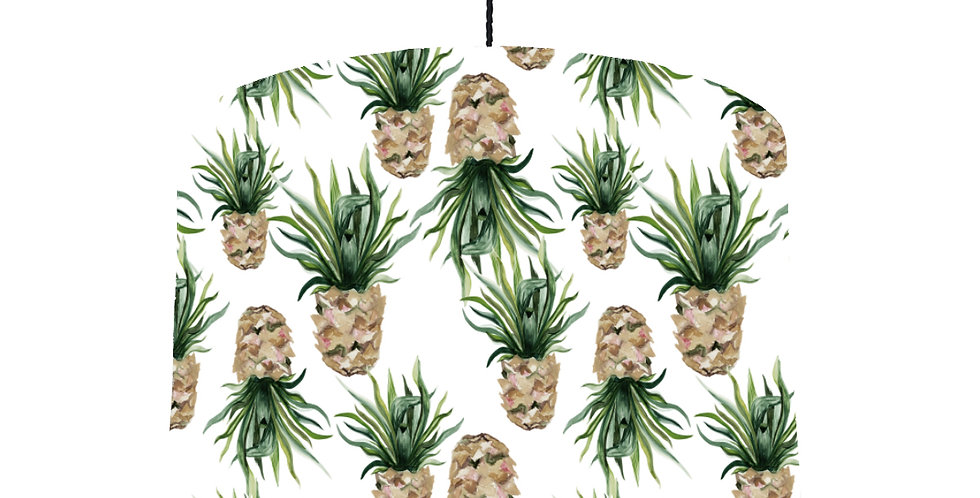 Pineapple Lampshade (White) - Colour Lining