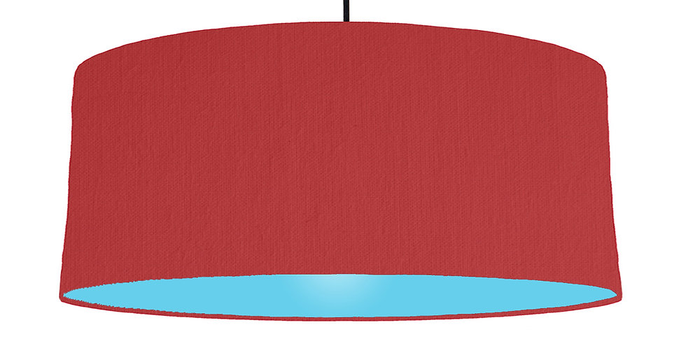 Red & Light Blue Lampshade - 70cm Wide