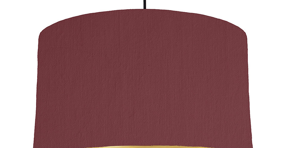 Wine Red & Brushed Gold Lampshade - 50cm Wide