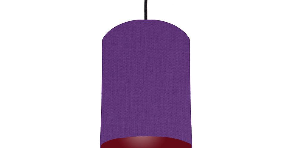 Violet & Burgundy Lampshade - 15cm Wide