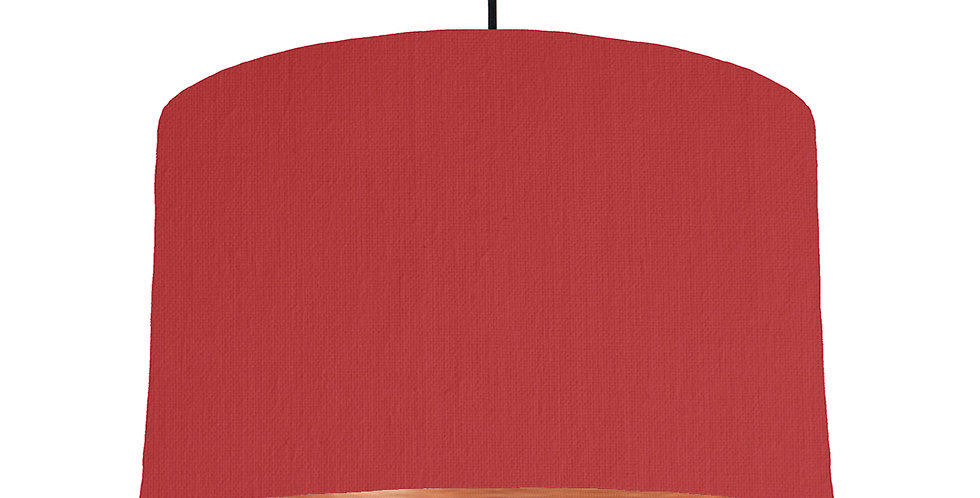 Red & Brushed Copper Lampshade - 40cm Wide