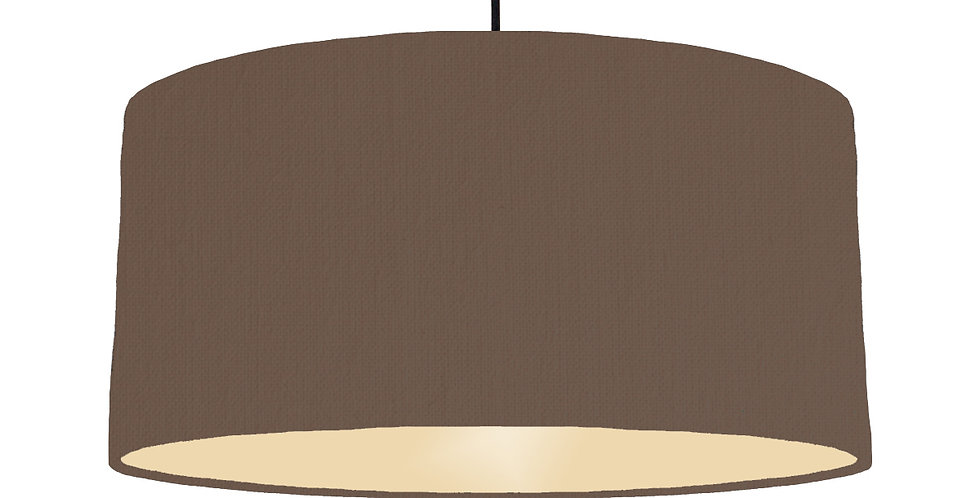 Brown & Ivory Lampshade - 60cm Wide