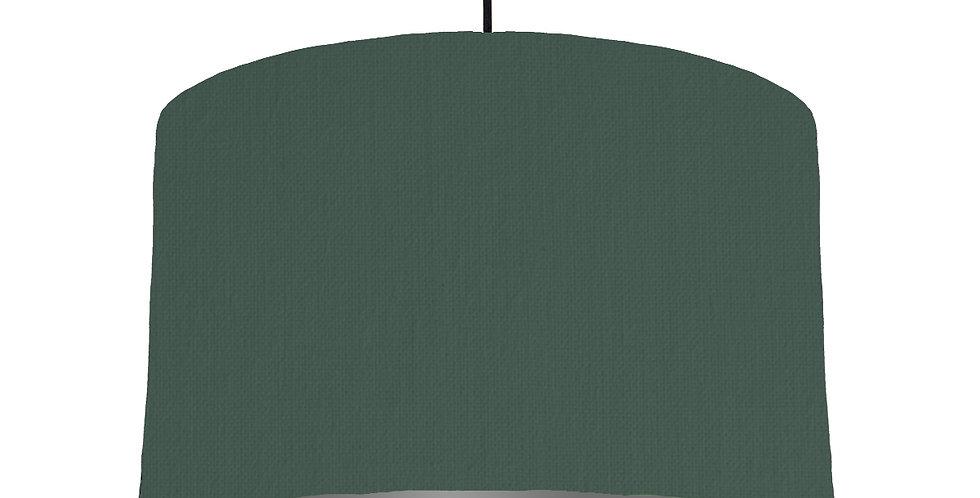 Bottle Green & Dark Grey Lampshade - 40cm Wide