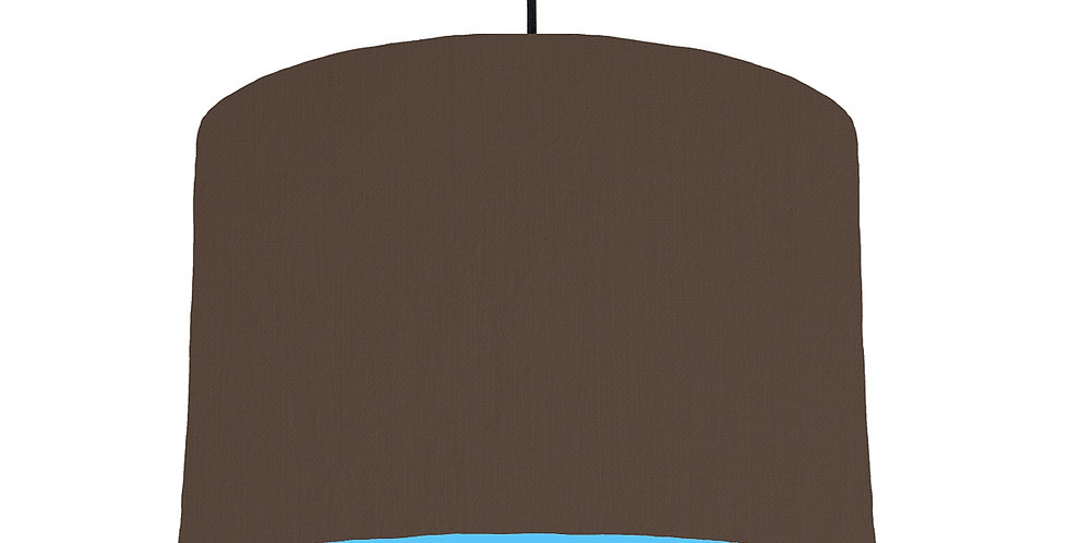 Brown & Light Blue Lampshade - 30cm Wide