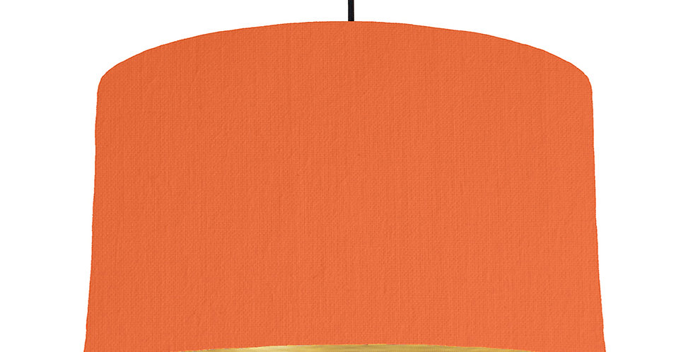Orange & Brushed Gold Lampshade - 50cm Wide