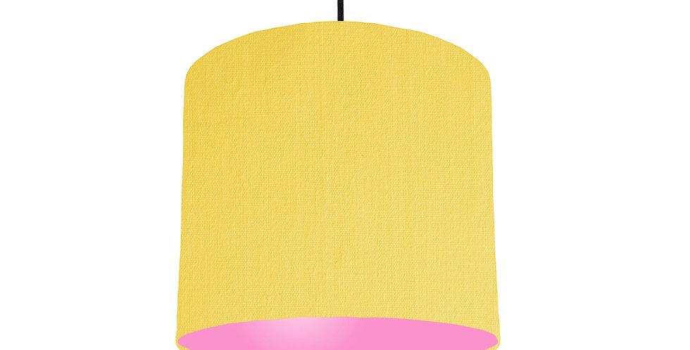 Lemon & Pink Lampshade - 25cm Wide