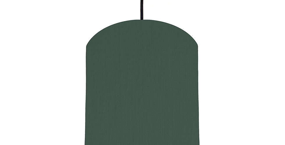 Bottle Green & Turquoise Lampshade - 20cm Wide
