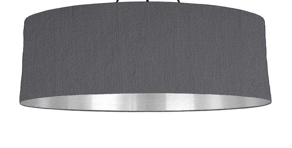 Dark Grey & Silver Mirrored Lampshade - 100cm Wide